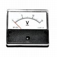 Analoge Paneelmeter 0 - 15V DC